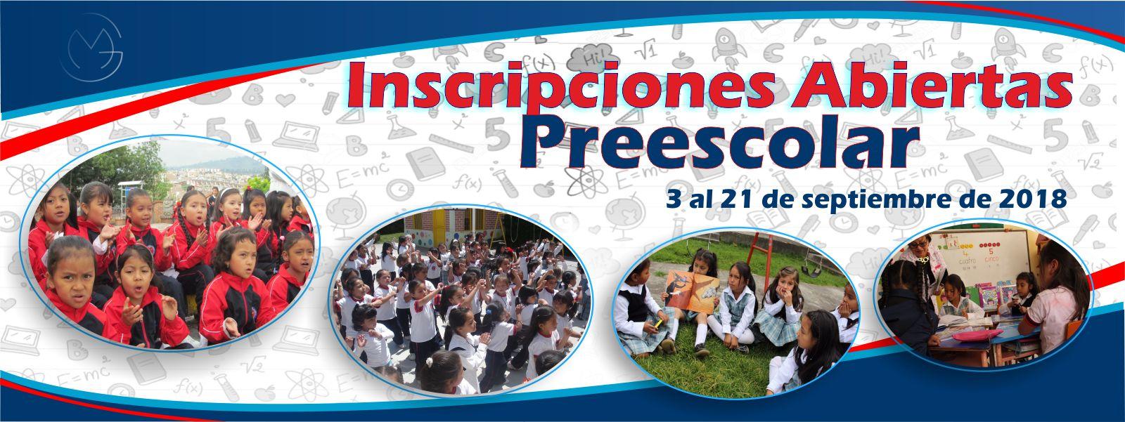 Preescolar - Inscripciones Abiertas