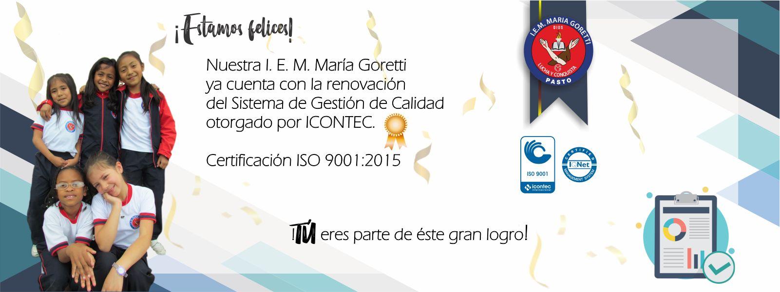 Estamos certificados con ISO 9001:2015