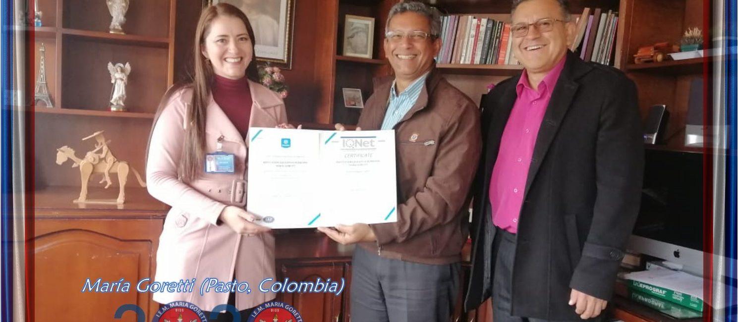 Nuevamente la I.E.M. María Goretti aprobó Renovación del Certificado ICONTEC